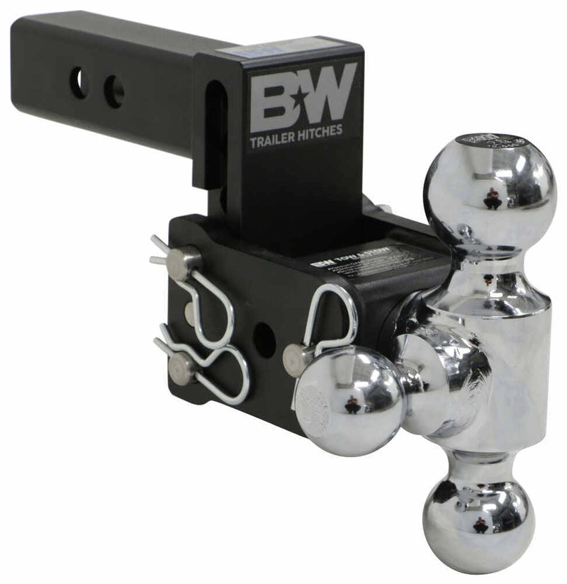 "B&W Tow & Stow 3-Ball Mount - 2"" Hitch - 3"" Drop, 3-1/2"" Rise - 10K - Black"