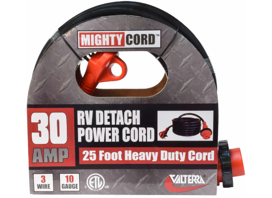 Mighty Cord Detachable RV Power Cord w/ Handle - 30 Amps - 25'