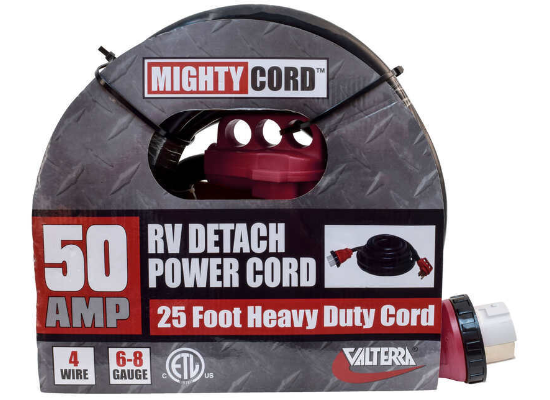Mighty Cord Detachable RV Power Cord w/ Handle - 50 Amps - 25'