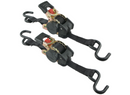 "Highland Retractable Ratchet Straps w/ Push Button Releases - 1"" x 6' - 500 lbs - Qty 2"