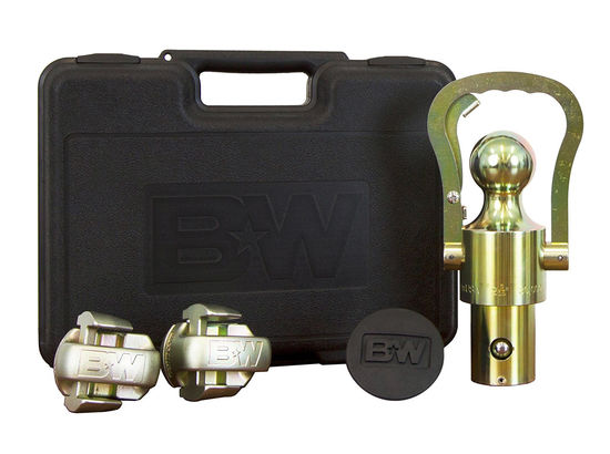 B&W Ball and Safety Chain Kit for Ford, GM, and Nissan Titan Underbed Gooseneck Trailer Hitch