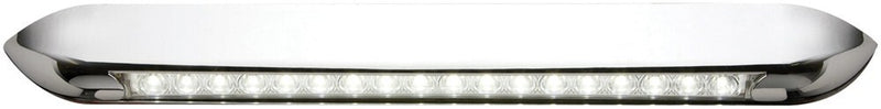 "Opti-Brite LED Strip Light for RV Awnings - Weatherproof - Chrome Housing - 18"" Long"