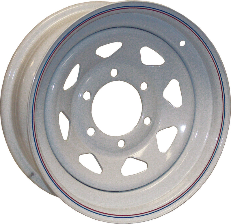 Americana Tire and Wheel 20232 Trailer Wheel White With Stripes