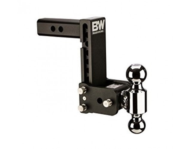 "B&W Tow & Stow 2-Ball Mount - 2-1/2"" Hitch - 7-1/2"" Drop/Rise - 14.5K - Black"