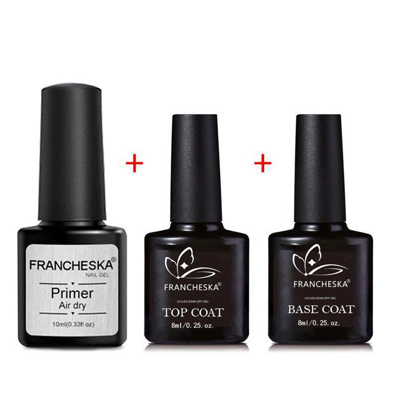 LaManucure™ - Lot de 3 : Primer + Base coat + Top coat - La Manucure
