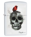Zippo Spazuk Bird On Skull Lighter
