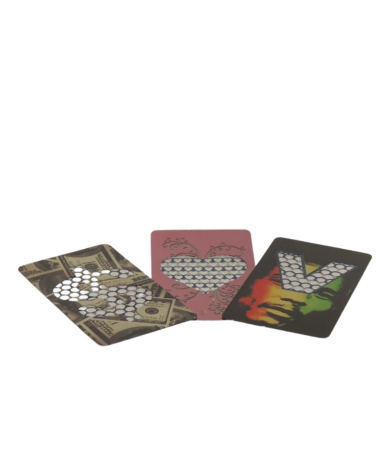 Coloured Metal Grinder Card