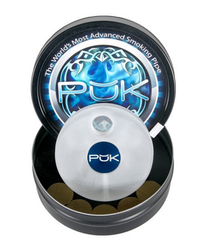 Puk Pipe Frosted Glass Multi-Hitter