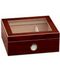Artisan Cherry Glass Top 25 Count Humidor