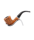 Tobacco Pipe With A Metal Bowl