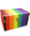 Wood Stash Box Pride Rainbow Large