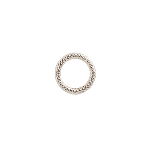 SILVER ROPE TEXTURED RING