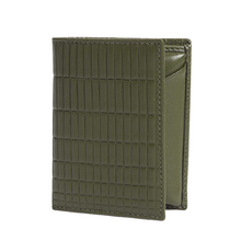 Load image into Gallery viewer, FOLDOVER CARD WALLET BRICK LINE KHAKI