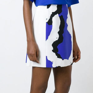 ABSTRACT PRINT PANEL MINI SKIRT