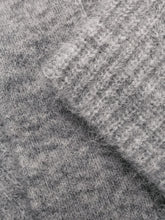 Load image into Gallery viewer, GREY VNECK MOHAIR PULLOVER