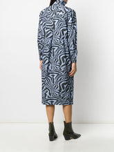 Load image into Gallery viewer, SHIRT DRESS PRINTED COTTON POPLIN FOREVER BLUE