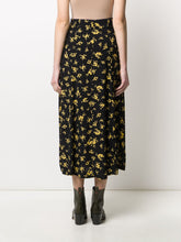 Load image into Gallery viewer, SKIRT PRINTED CREPE BLACK