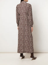 Load image into Gallery viewer, MAXI DRESS PRINTED CREPE CHOCOLATE