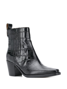 ANKLE BOOTS WESTERN BLACK