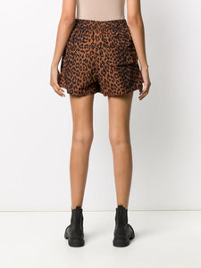 SHORTS PRINTED COTTON POPLIN TOFFEE