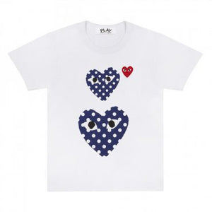 POLKA DOT DOUBLE HEART T-SHIRT