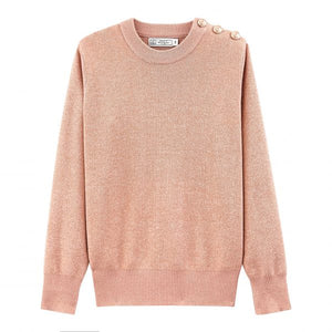 PINK METALLIC SWEATER