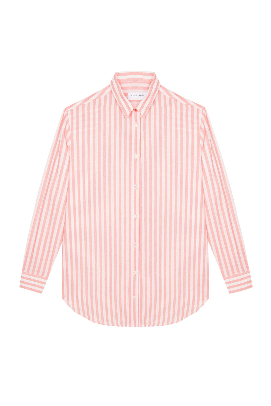 BOYFRIEND SHIRT OFF WHITE CORAL