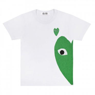 T-SHIRT WITH GREEN SIDE HEART
