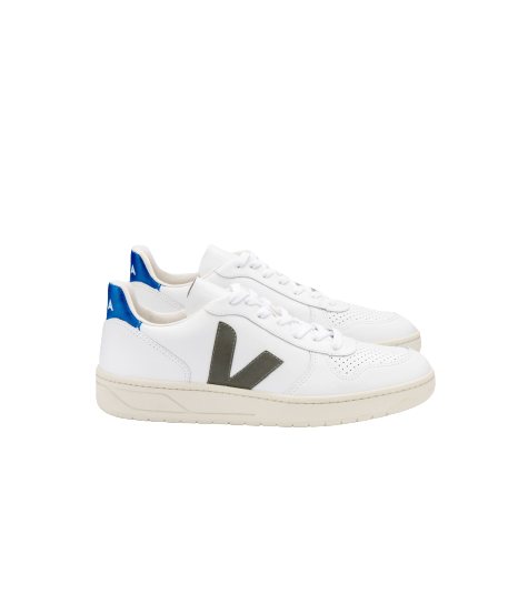 V-10 LEATHER EXTRA WHITE KHAKI INDIGO MEN