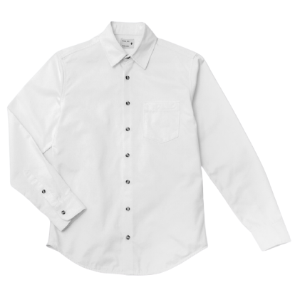 1 POCKET COTTON SHIRT WHITE