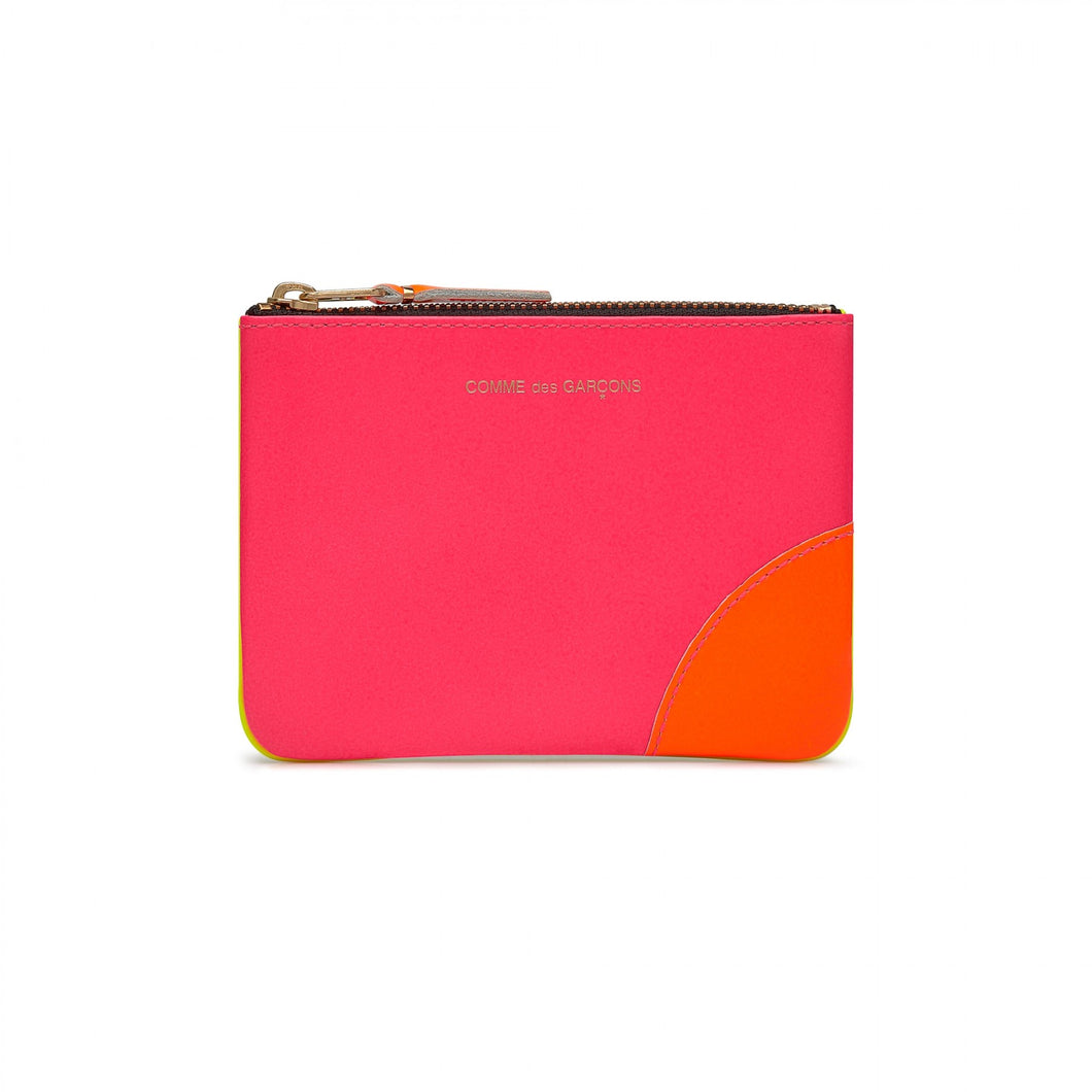 SMALL POUCH SUPERFLUO PINK YELLOW
