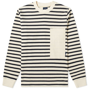 STRIPED MARINIERE OFF WHITE / BLUE