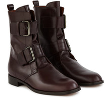 Load image into Gallery viewer, EMERANCE BOOTS BURGUNDY