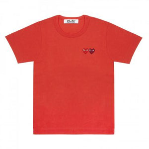 RED T-SHIRT WITH DOUBLE HEART