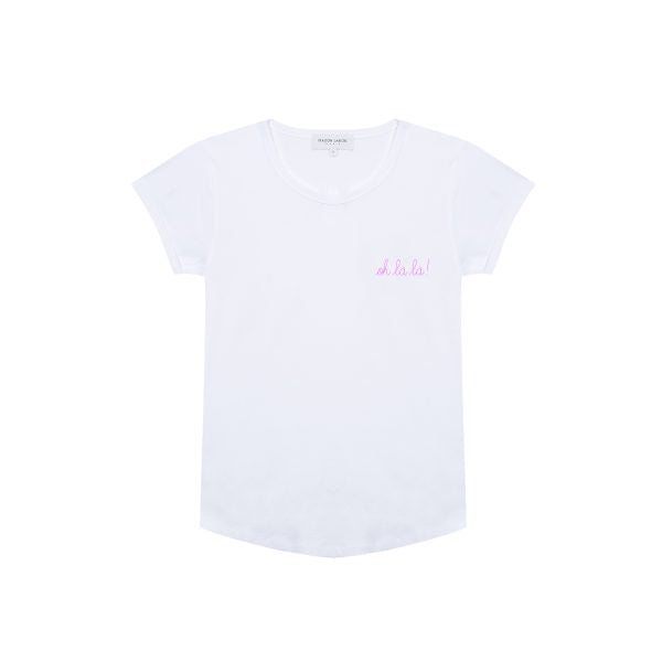 OH LA LA WHITE T-SHIRT