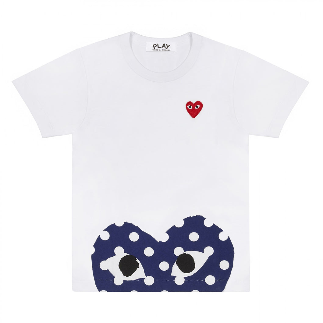 PEEKING HEART POLKA DOT T-SHIRT