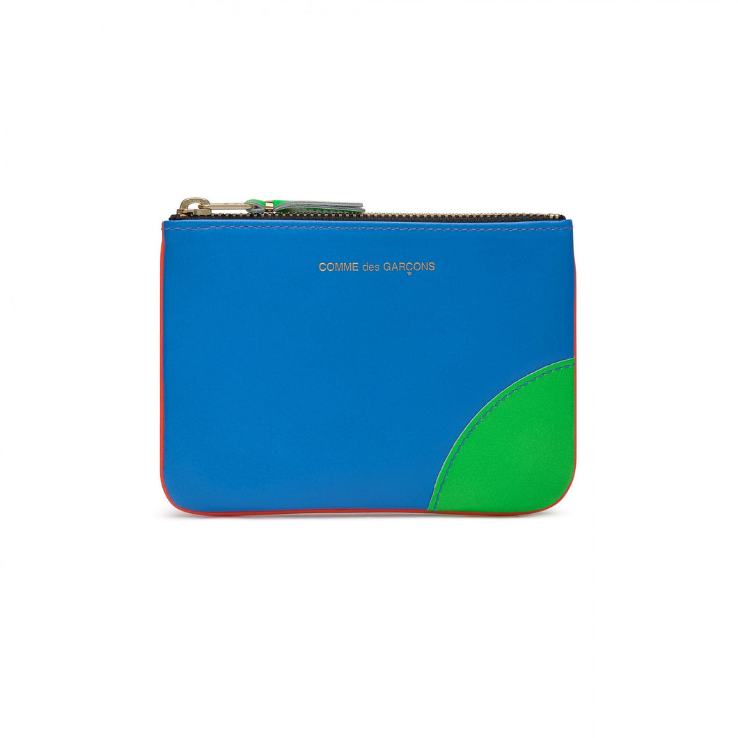 SMALL POUCH SUPERFLUO ORANGE BLUE