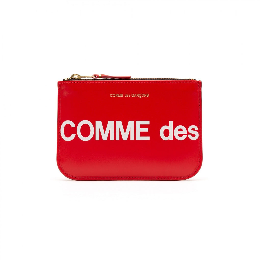 SMALL POUCH HUGE LOGO RED