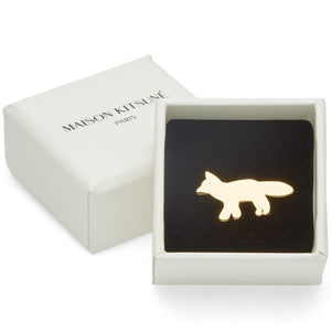 BROOCH FOX GOLD