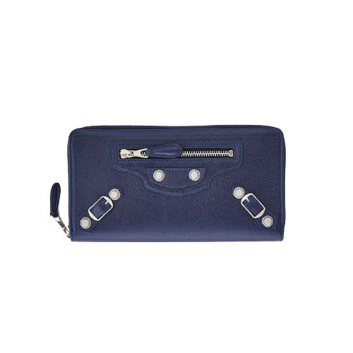 STUDDED PURSE NAVY