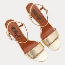 Load image into Gallery viewer, HELLZA GOLD SANDALS