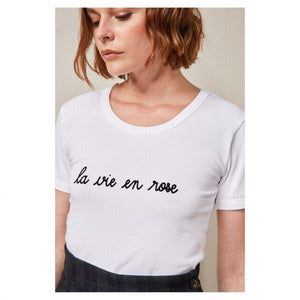 LA VIE EN ROSE WHITE T-SHIRT