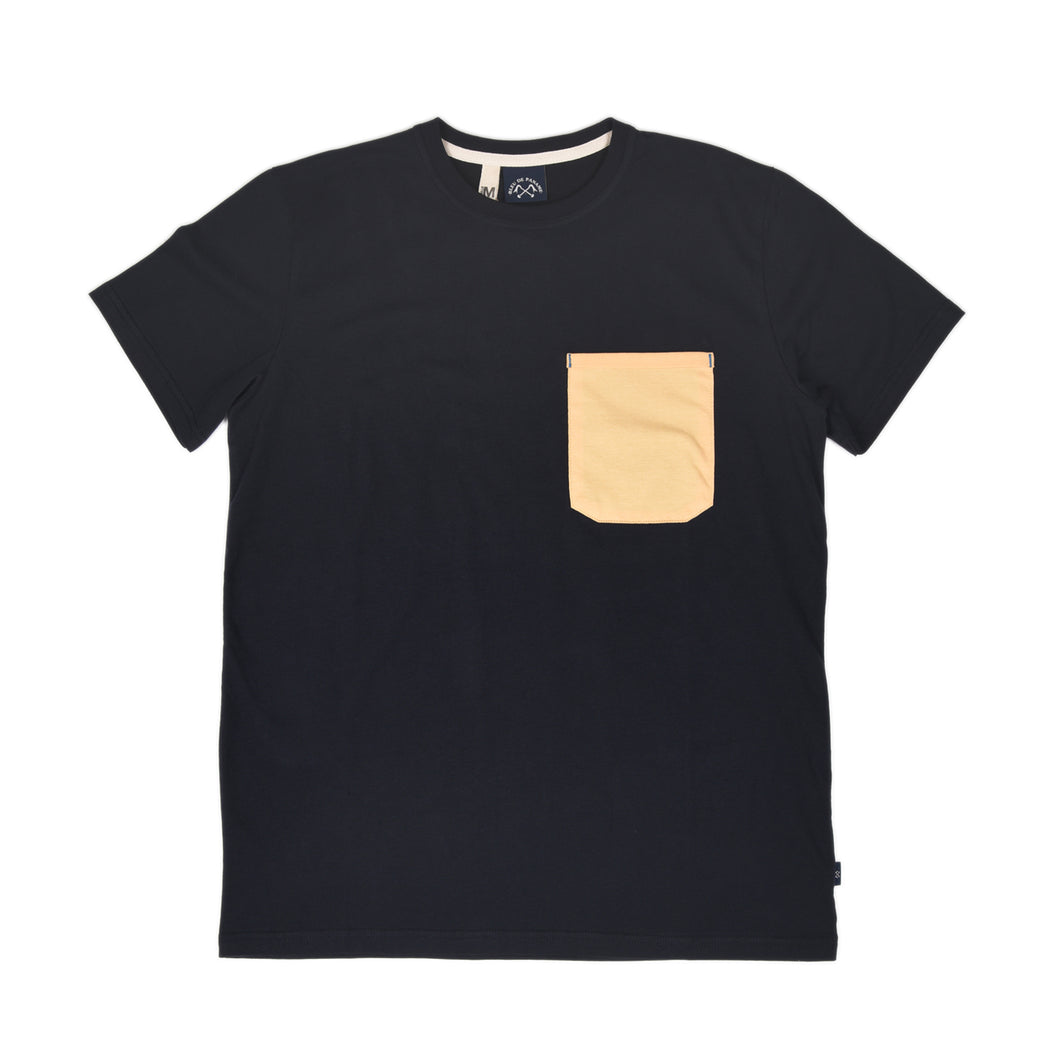 POCKET T-SHIRT PATCHWORK BLEU PANAME