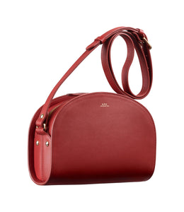 HALF MOON BAG DARK RED
