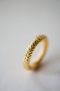 GOLD PLATED ROPE TEXTURED RING