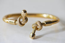 Load image into Gallery viewer, GOLD PLATED DOUBLE KNOT BANGLE