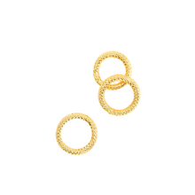 Load image into Gallery viewer, GOLD PLATED ROPE TEXTURED RING