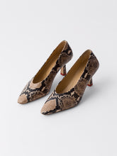 Load image into Gallery viewer, PENELOPE SNAKE PRINT CALF NATURAL