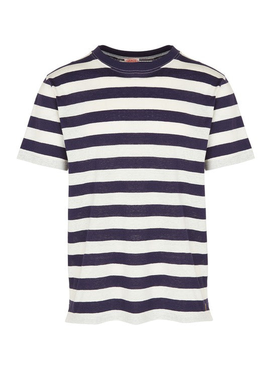 T SHIRT S/S STRIPES RAYÉ HERITAGE NAVY/NATURE