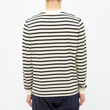 Load image into Gallery viewer, STRIPED MARINIERE OFF WHITE / BLUE